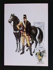 Spain MK 1974 SOLDATO CAVALIERE CAVALLO HORSE Soldier carte MAXIMUM CARD MC cm c5411
