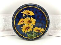 Vintage/Antique Tin-Sovereign Toffees-Yellow/Blue-Flowers/Floral
