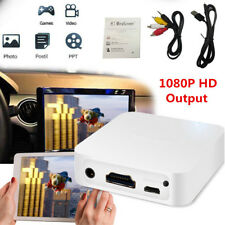 White Car WiFi Display Miracast Box Mirror Link Adapter Airplay DLNA Android iOS