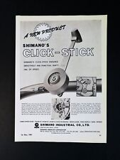 Vintage 1967 Shimano's Click-Stick Bicycle Shifter Full Page Original Ad