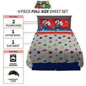 3D Cartoon Super Ma-Rio Bedding Set Queen Size Mario Kart Duvet Cover Sets Boys Girls Kids Comforter Sets 3 Pieces Mar-io Bed Sets 1 Duvet Cover 2 Pillowcase Bed Sheet Set