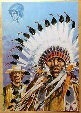 COMANCHE Les guerriers du désespoir Carte postale Hermann CP n°35 1984 État neuf
