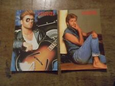 2 GEORGE MICHAEL POP CARDS- NEW-UNUSED- APPROX. 4 X 6 INCHES