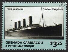 Rms Lusitania Cunard Line Ocean Liner Wwi barco de pasajeros Sello
