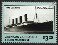 RMS LUSITANIA Cunard Line Ocean Liner WWI Passenger Ship Stamp