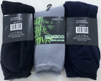 Bamboo Mens Work Socks 7-11 Outdoor Hiking Thick  Reinforced Cushioned H/D
