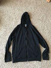 Icebreaker Rover Merino Wool Black Hoodie Men's Size Medium Full Zip Super Soft