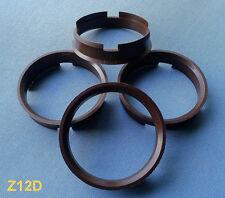 (Z12D) 4x  Zentrierringe 72,6 / 66,6 mm braun für Alufelgen