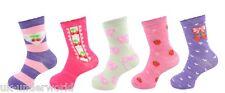 5 Pairs Girls Boys Childrens Cotton Socks Lycra Coloured Short Ankle Fashion Fruits 4 - 7