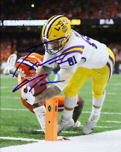 THADDEUS MOSS SIGNED LSU TIGERS NATIONAL CHAMPIONSHIP 8X10 PHOTO AUTOGRAPHED rep