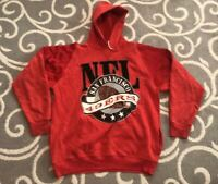 Vintage 80s San Francisco 49ers NFL Football 1980s Hoodie Sweatshirt Size Large