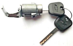 Chevy GM OEM Tailgate Lock Cylinder W/2 Chevy Bow-Tie Logo OEM Chip Keys