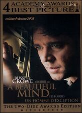 A BEAUTIFUL MIND (Russell CROWE Ed HARRIS Jennifer CONNELLY) True Story 2DVD SET