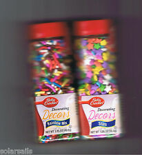 BETTY CROCKER DECORATING DECORS RAINBOW MIX & STARS ICING SPRINKLES CAKE COOKIE
