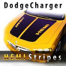 Dodge Charger HEMI style hood stripes decal set pre-cut 2006 2007 2008 2009 2010