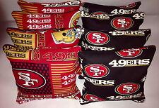 SAN FRANCISCO 49's 8 CORNHOLE BAGS BEAN BAGS TOSS  Print 2 Sides