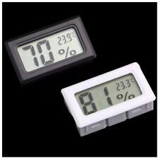 Igrometro Termometro Mini Portatile LCD Digitale Interno Bianco con Batterie Neq