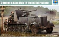 Trumpeter 1/35 German 8.8cm Flak 18 Selbstfahrlafette Plastic Model Kit 1585