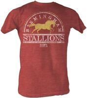 Birmingham Stallions USFL Logo Men's Tee Shirt Red Heather Sizes S-5XL