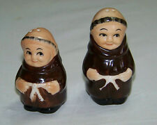 Bone China:  SALT & PEPPER Pair of MONKS / FRIARS