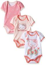 Hello Kitty Baby Girls' 3 Pack Bodysuits Blushing pink NEW & AUTHENTIC