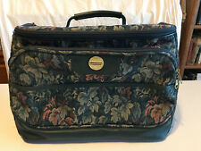 VINTAGE AMERICAN TOURISTER Carry-On Tote Overnight Zippered Tapestry Bag w/Strap