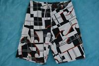 """BILLABONG Surfwear Black/White/Red BOARDSHORTS Size 34"""" Gr8 Used Condition"""