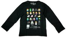 T-shirts, débardeurs et chemises noirs avec des motifs Graphique à longueur de manche manches longues pour garçon de 2 à 16 ans