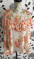 BNWT M&S Limited Edition Floral Chiffon Summer Top Blouse Size 6 UK
