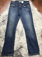 Levi's Womens 515 Jeans Size 2 Boot Cut Dark  Wash Denim Mid Rise Stretch