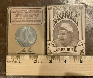 MLB FATHER'S OF BASEBALL BABE RUTH CENTENNIAL DOUBLE STRUCK COIN  39MM