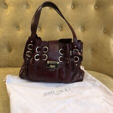 Original Lack Leder Tasche vom Luxus Label Jimmy Choo in Bordeauxrot! Wie Neu!