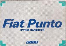 FIAT PUNTO 1.1 1.2 1.4 1.6 PETROL & 1.7 DIESEL ORIGINAL 1995 OWNERS HANDBOOK