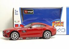 "Bburago 30010 Mercedes AMG GT ""Red""  METAL Scala 1:43"