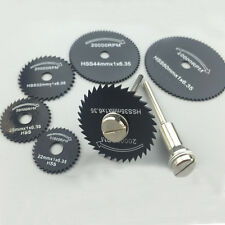 7pc Mini HSS Cobalt Saw Disc Wheel Blade For Rotary Tools 1/8Inch mandrel