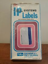 """Mini Floppy Disk Labels 4-3/4"""" X 1-1/4"""" New Old Stock Self-Adhesive 600 count"""