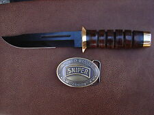 U.S. ARMY SNIPER WARRIOR KNIFE AND BELT BUCKLE