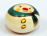 Usaburo Kokeshi Japanese Wooden Doll 132-2 Yuki Daruma (Snowman)