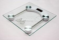 150KG Square Glass Electronic Bathroom Scale LCD Digital Display Prsonal Scales