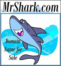 Mr Shark .com Cartoon Money Finance Hollywood Kids Domain Name For Sale Cash $