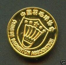 Chinese  Badminton  association Golden colour Pin badge