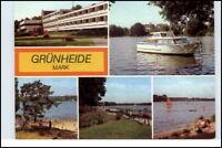 GRÜNHEIDE Mark Kr. Fürstenwalde Motorboot DDR AK 1981