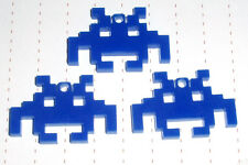 80s Retro Geek Arcade Space Invader Perspex Plastic Charms x 3 lot Kawaii Kitsch