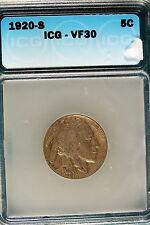 1920-S ICG VF30 Buffalo Nickel!! #B5982