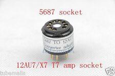 1Piece Gold 5687(top) to 12AU7 ECC82 12ax7ECC83(Bottom) tube converter adapter