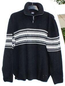 Joop Strickpulli Pullover Wolle Freizeit Größe 56 retro vintage schwarz