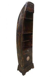Vintage Narrow Boat Shelf Solid Wood Bali Bathroom Living Room
