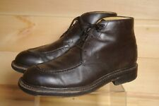 Men's Tods Moc Toe Boots Brown Leather Lace Up UK 7.5 Made in Italy