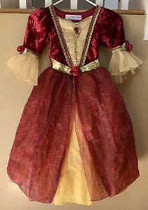 DISNEY Store Deluxe Princess Belle Costume Dress 5/6 Girls ~