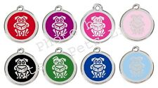 Comic Dog Enamel/Solid Stainless Steel Engraved ID Dog/Cat Tag